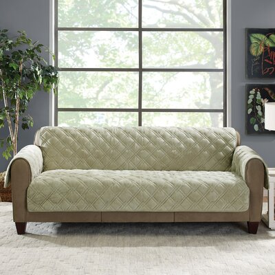 Plush Comfort Sofa Slipcover Color: Sage