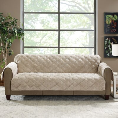 Plush Comfort Sofa Slipcover Color: Taupe