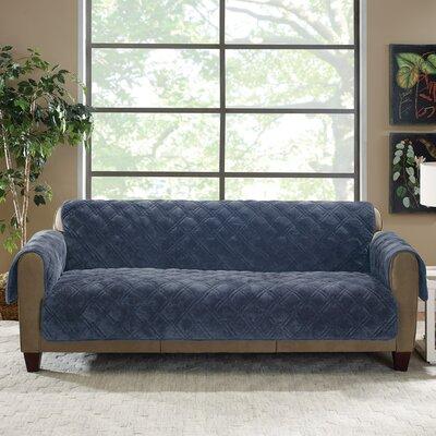 Plush Comfort Sofa Slipcover Color: Storm Blue