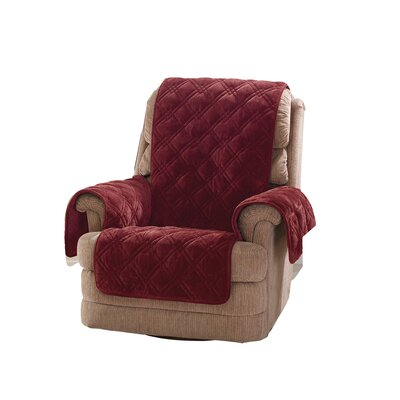 Plush Comfort Recliner Slipcover Color: Wine