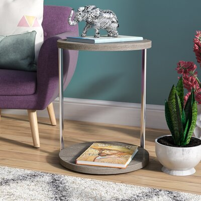 Conor End Table Color: Dark Taupe