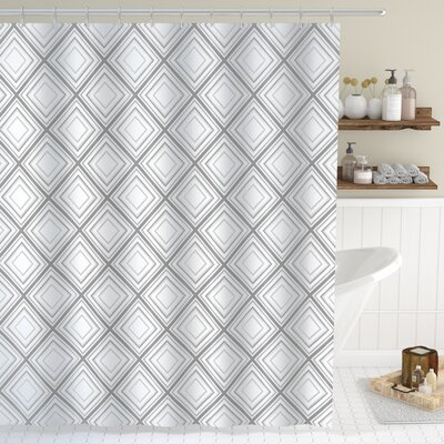 Wyatt Minimalist Squares Shower Curtain Size: 69 W x 75 L
