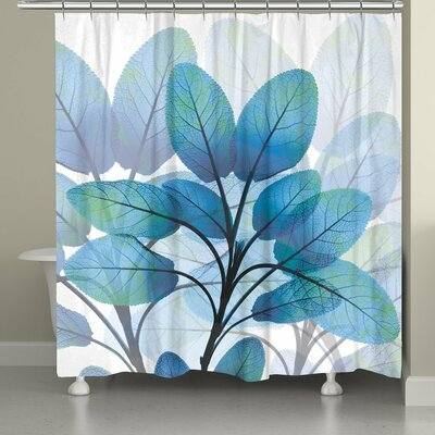 Leaves Shades of X-Ray Shower Curtain