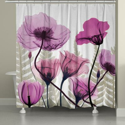 Fuchsia Floral X-Ray Shower Curtain