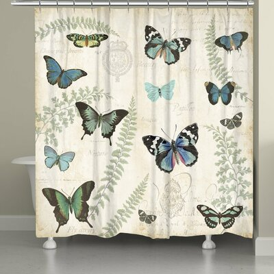 Clary Butterfly Naturelle Shower Curtain