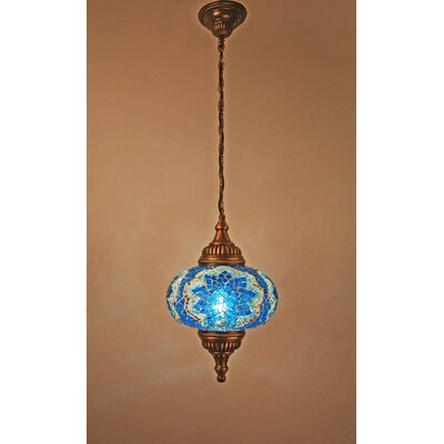Ellzey 1-Light LED Mini Pendant Shade Color: Blue