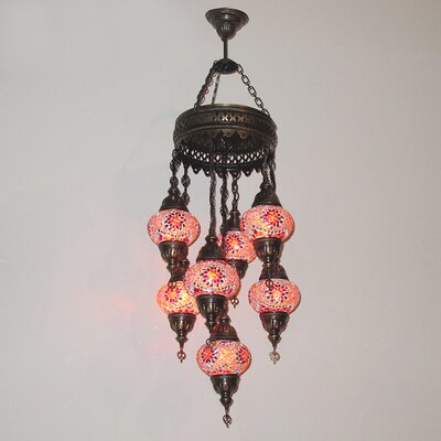 Ellzey 7-Light LED Cluster Pendant Shade Color: Red