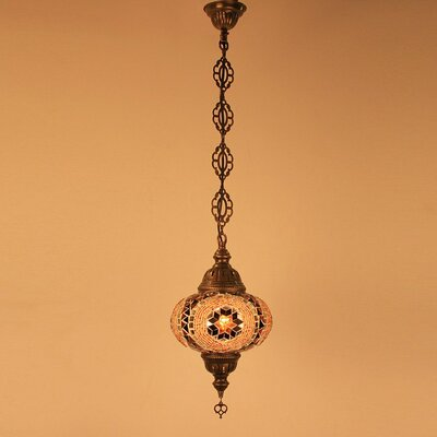 Ellzey 1-Light LED Mini Pendant Shade Color: Brown