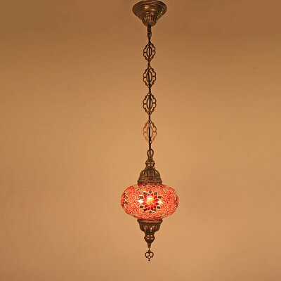 Ellzey 1-Light LED Mini Pendant Shade Color: Red