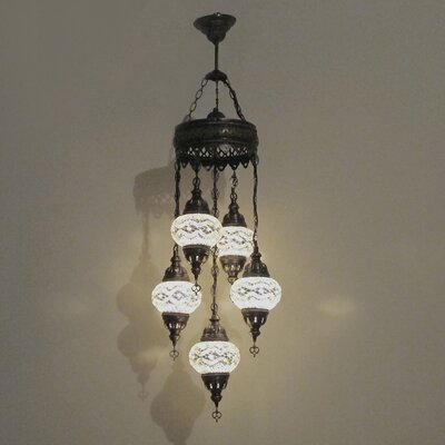 Ellzey 5-Light LED Cluster Pendant Shade Color: White