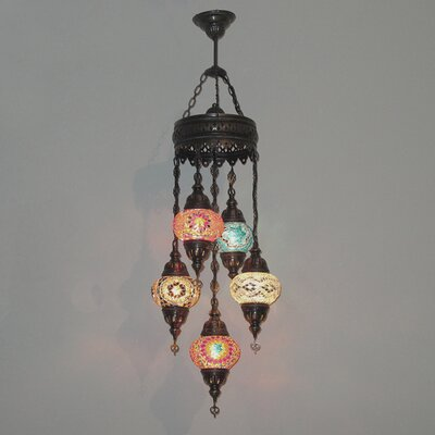 Ellzey 5-Light LED Cluster Pendant Shade Color: Multi Color