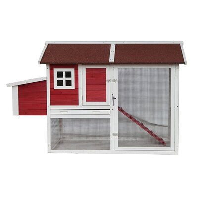 Barn Style Wooden Chicken Coop with Chicken Run