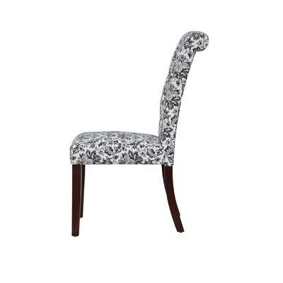 Hambly Upholstered Dining Chair Upholstery Color: White/Black