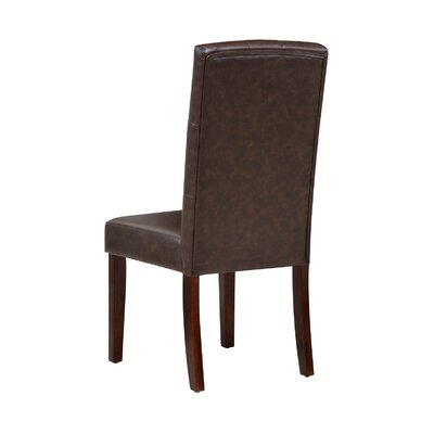 Garth Upholstered Dining Chair Upholstery Color: Brown