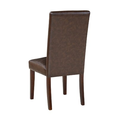 Garth Upholstered Dining Chair Upholstery Color: Chotolate