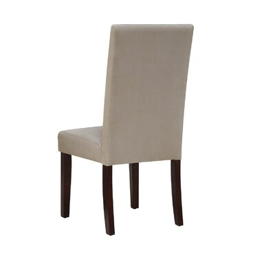 Garth Upholstered Dining Chair Upholstery Color: Ligth Brown