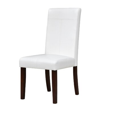 Garth Upholstered Dining Chair Upholstery Color: White
