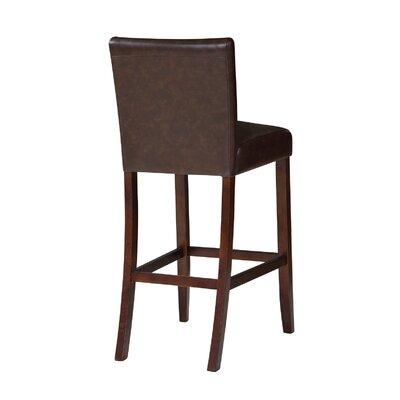 Tennison 30 Bar Stool Upholstery: Brown