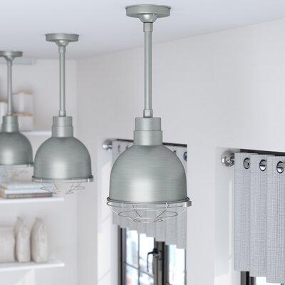 Fitzhugh 1-Light Metal Kitchen Inverted Pendant Finish: Galvanized
