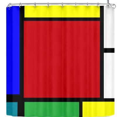 Oriana Cordero Mondrian & Me Shower Curtain