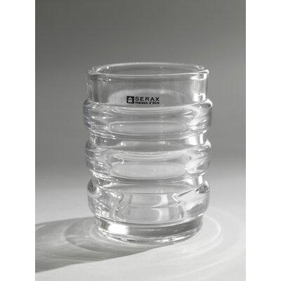 Ribbed Cylinder Blear Glass Table Vase B2811054