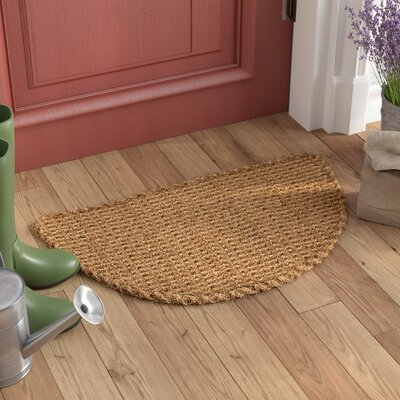Cordie Basket Weave Doormat Rug Size: Half Round 16 x 26