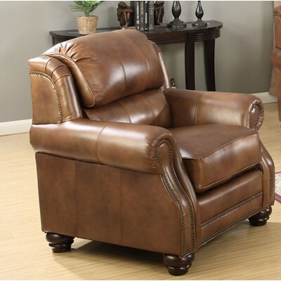 Baryzhikova Leather Wingback Chair