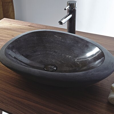 Shell Stone Oval Vessel Bathroom Sink