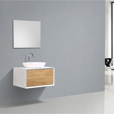 Grissett 30 Wall-Mounted Single Bathroom Vanity Set