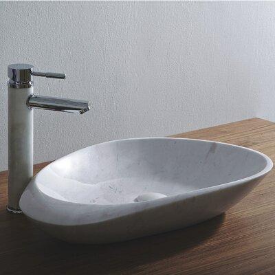 Fontana Stone Oval Vessel Bathroom Sink Sink Finish: White