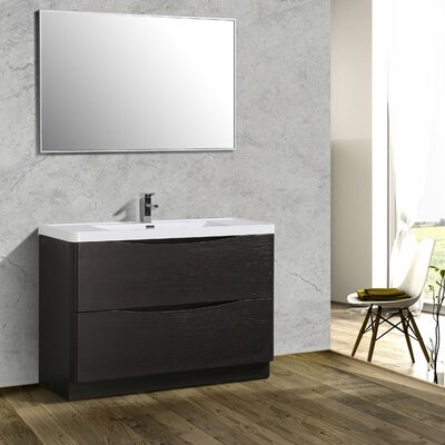Blondene 48 Single Bathroom Vanity Set Base Finish: Chestnut