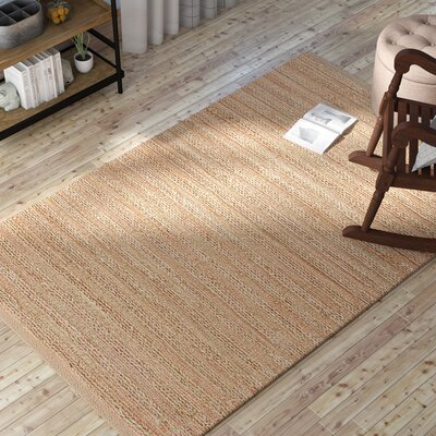 Branchburg Hand-Woven Tan/Rust/Rose Area Rug Rug Size: Rectangle 9 x 12