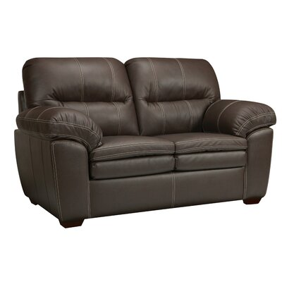Woodberry Leather Loveseat
