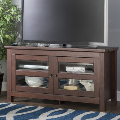 Dunmore 44 Wood TV Stand Color: Brown