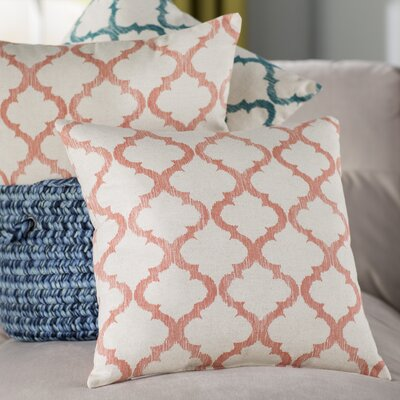 Fullwood Linen Throw Pillow Color: Mango