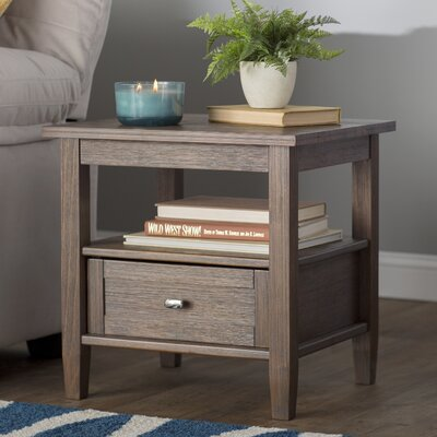 Gendron End Table With Storage� Color: Farmhouse Brown