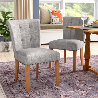 Bentleyville Harbor Upholstered Dining Chair Upholstery Color: Light Gray