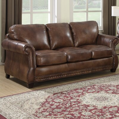 Beglin Cognac Leather Sofa