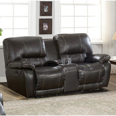 Womble Leather Reclining Loveseat