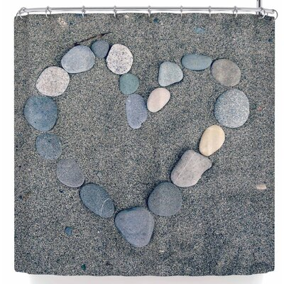 Robin Dickinson Stone Heart Shower Curtain