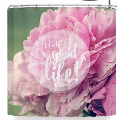 Robin Dickinson Live A Good Life Shower Curtain