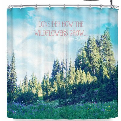 Robin Dickinson Consider The Wildflowers Shower Curtain