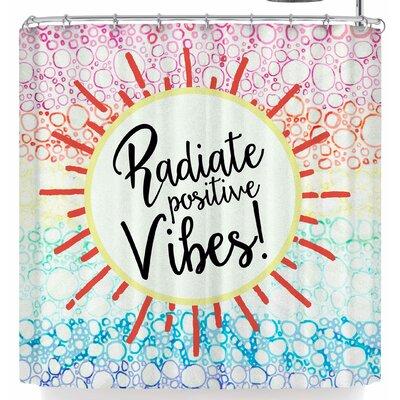 Robin Dickinson Radiate Positive Vibes Shower Curtain