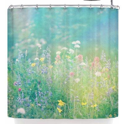 Robin Dickinson Mountain Wildflowers Shower Curtain