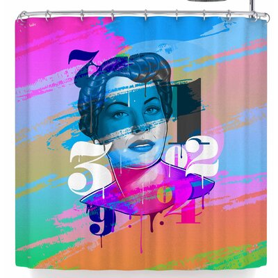 Roberlan Numbers Lady Shower Curtain
