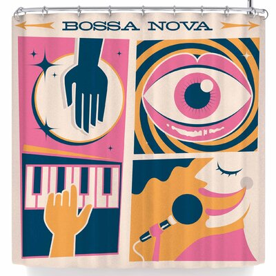 Roberlan Bossa Nova Cuca Fresca Shower Curtain