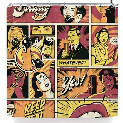 Roberlan Surreal Communication Shower Curtain