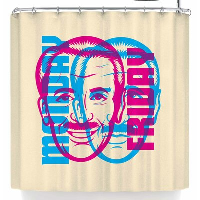 Roberlan Monday Or Friday Shower Curtain