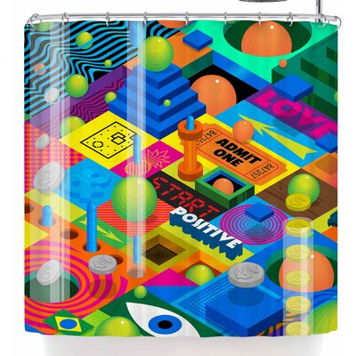 Roberlan Weirdoland Shower Curtain
