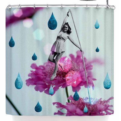 Rosa Picnic Walk In The Garden Shower Curtain